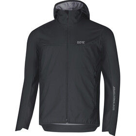 GORE WEAR H5 Windstopper Geïsoleerde Capuchon Jas Heren, black/terra grey